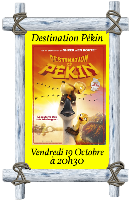 Affiche destination pekin